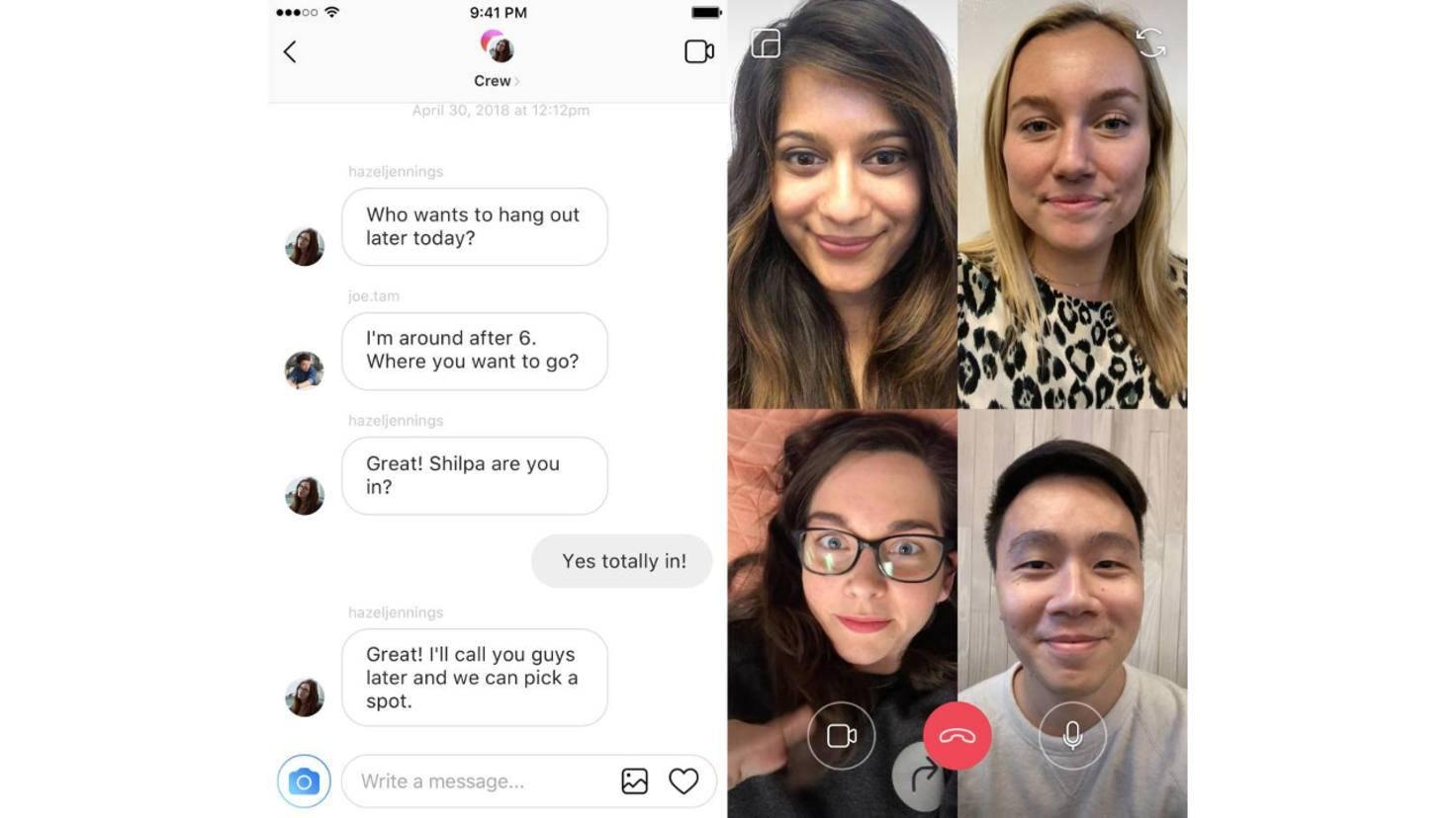 Instagram-Videochat