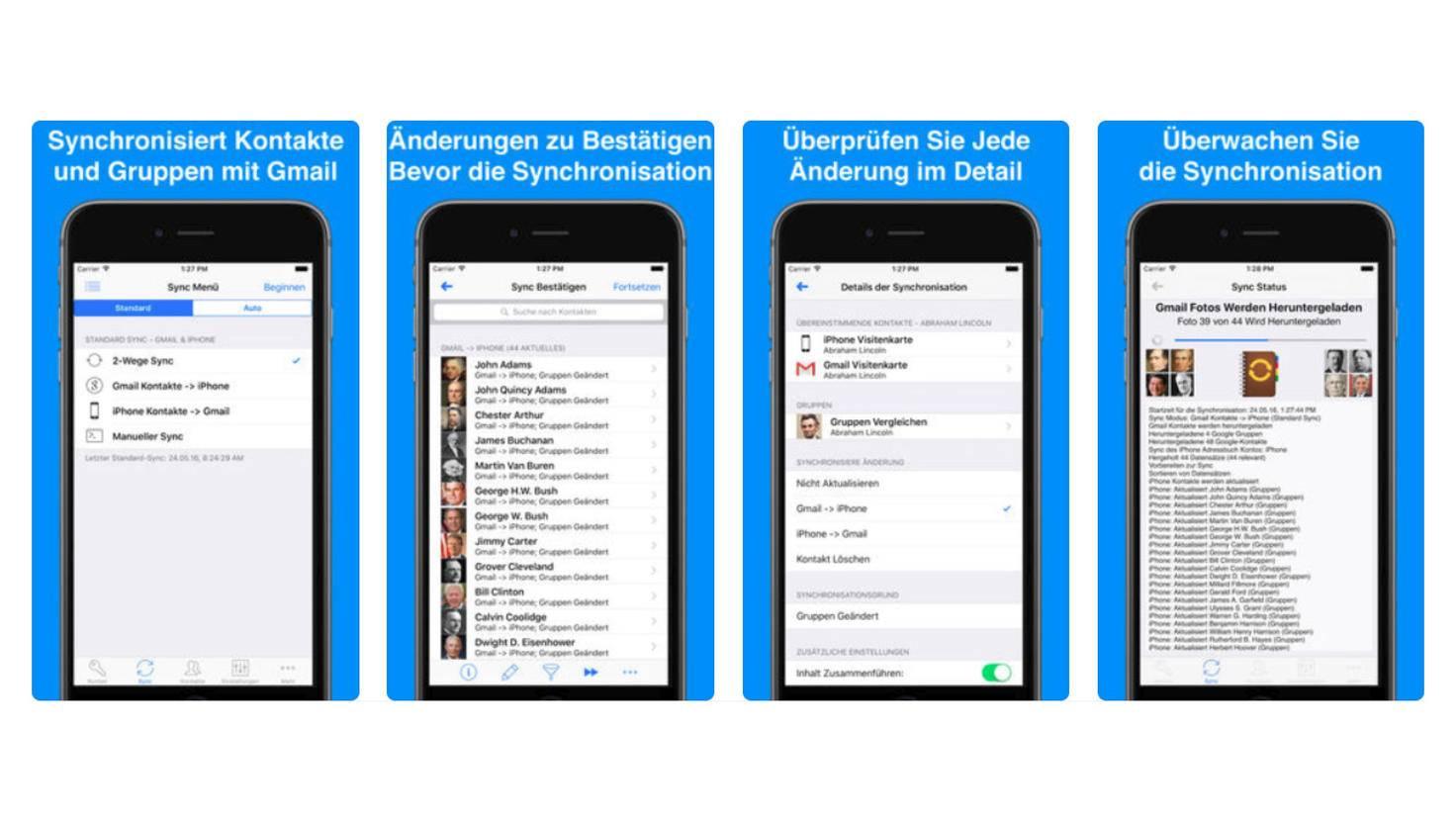 Kontakte Sync für Google Mail