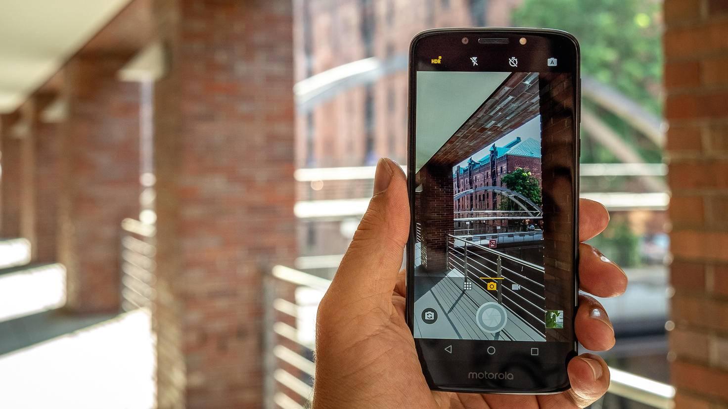 Die Kamera des Moto G6 Play im Einsatz.