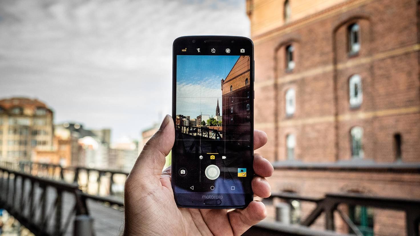 Die Kamera-App des G6 Plus bietet mehr Features.