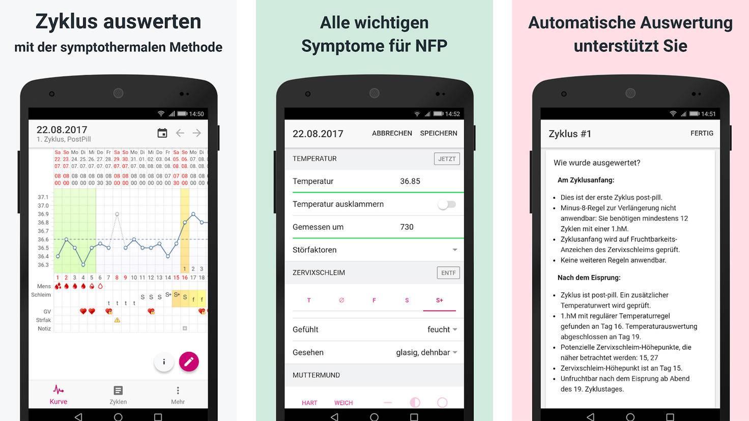 MyNFP Zyklus App-Google PlayStore-myNFP