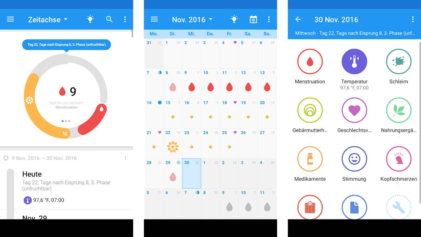 OvuView-Zyklus App-Google PlayStore-Sleekbit