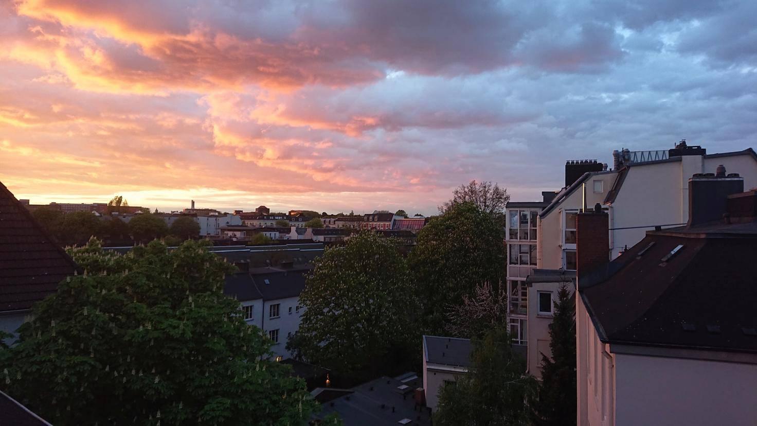 Auch bei Sonnenuntergang gelingen noch ansprechende Aufnahmen.