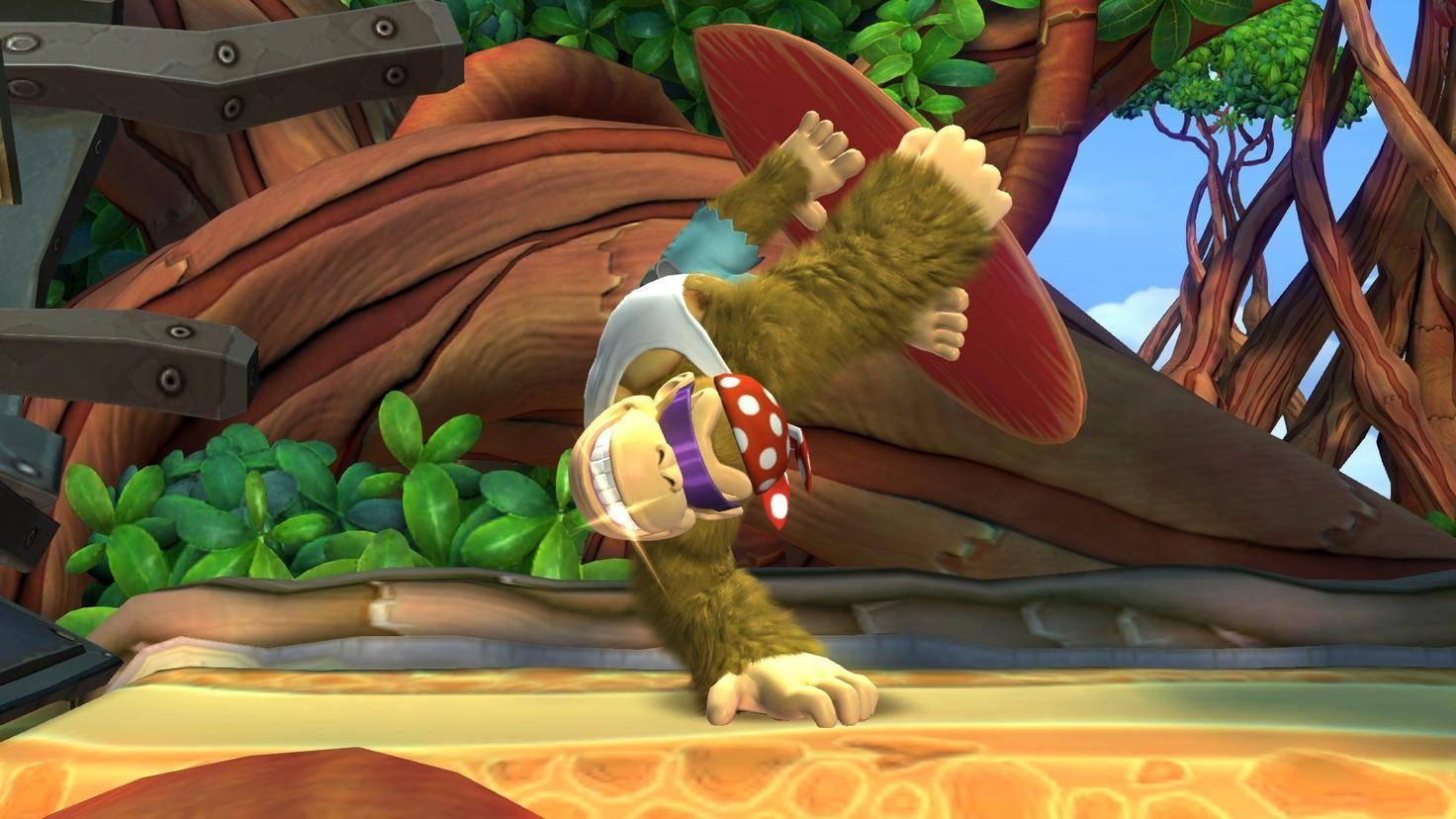 Der neue spielbare Charakter Funky Kong macht es Anfängern etwas leichter, den Dschungel zu bezwingen.