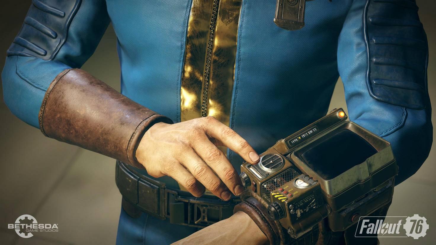 """Den Pip-Boy durften """"Fallout""""-Fans zuletzt 2018 in """"Fallout 76"""" umschnallen."""