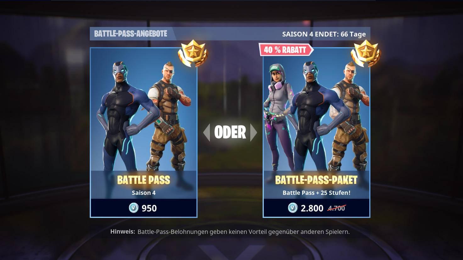 Den Battle Pass bekommst Du entweder als Standard-Edition oder als rabattiertes Paket mit bereits freigeschalteten Stufen.