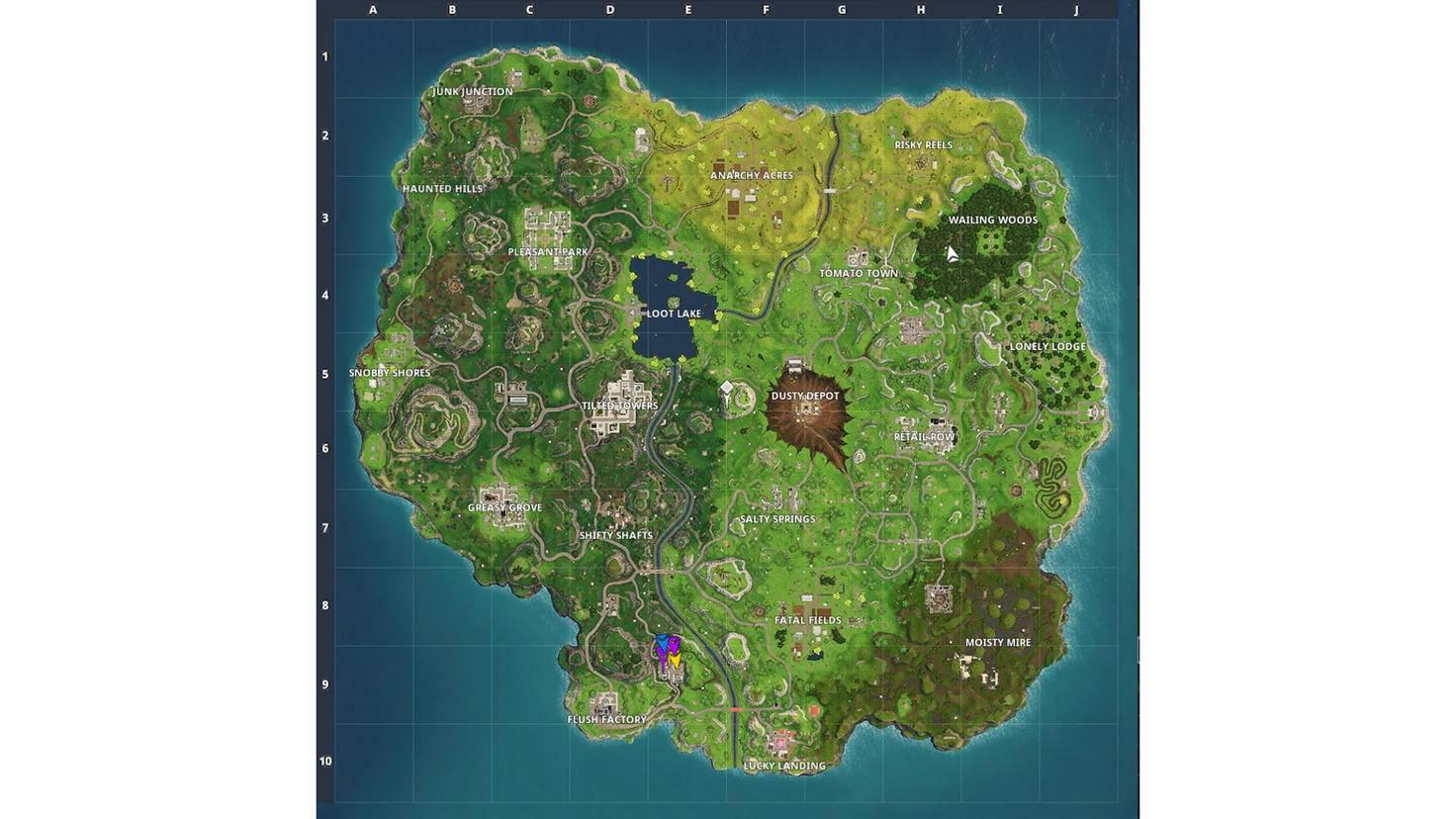 """Im Zentrum der """"Fortnite""""-Map befindet sich seit Update 4.0 ein gewaltiger Krater."""