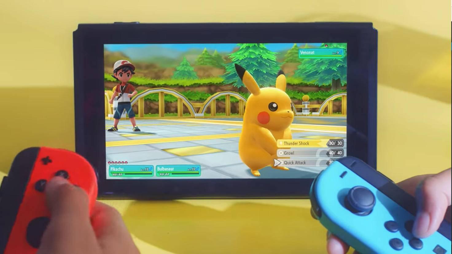 """Alte Monster, neue Grafik: """"Pokémon Let's Go!"""" verpasst Pikachu und Co. einen frischen Anstrich."""