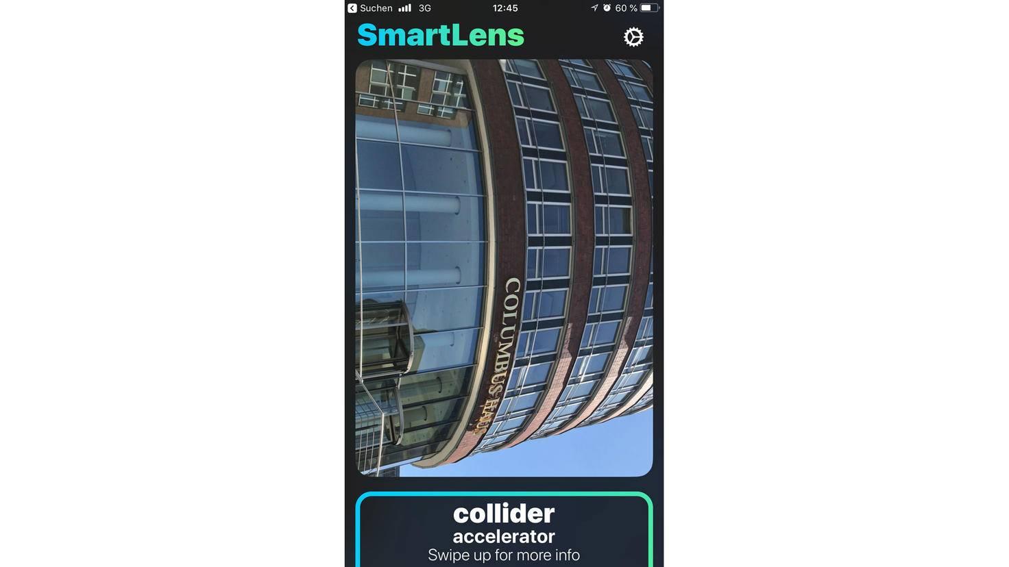 ...versagte aber etwa beim Columbus Haus, das von Google Lens wiederum erkannt wurde.