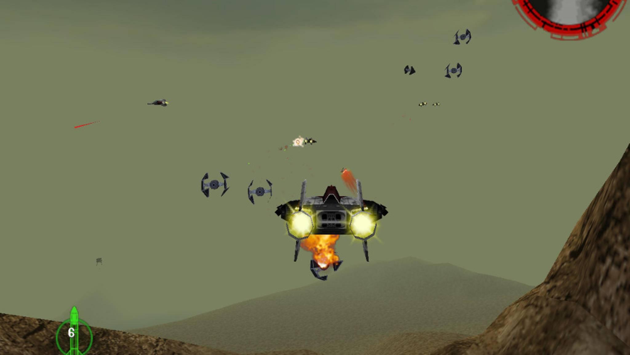 Die schnellen Tie-Jäger verfolge ich am besten im flinken A-Wing.