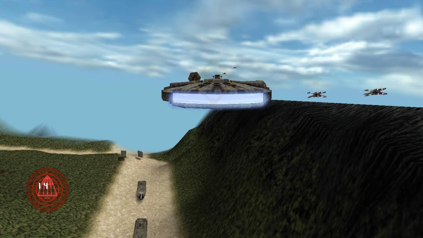 Im freispielbaren Millenium Falcon fällt die Eskorte eines Konvois etwas leichter.