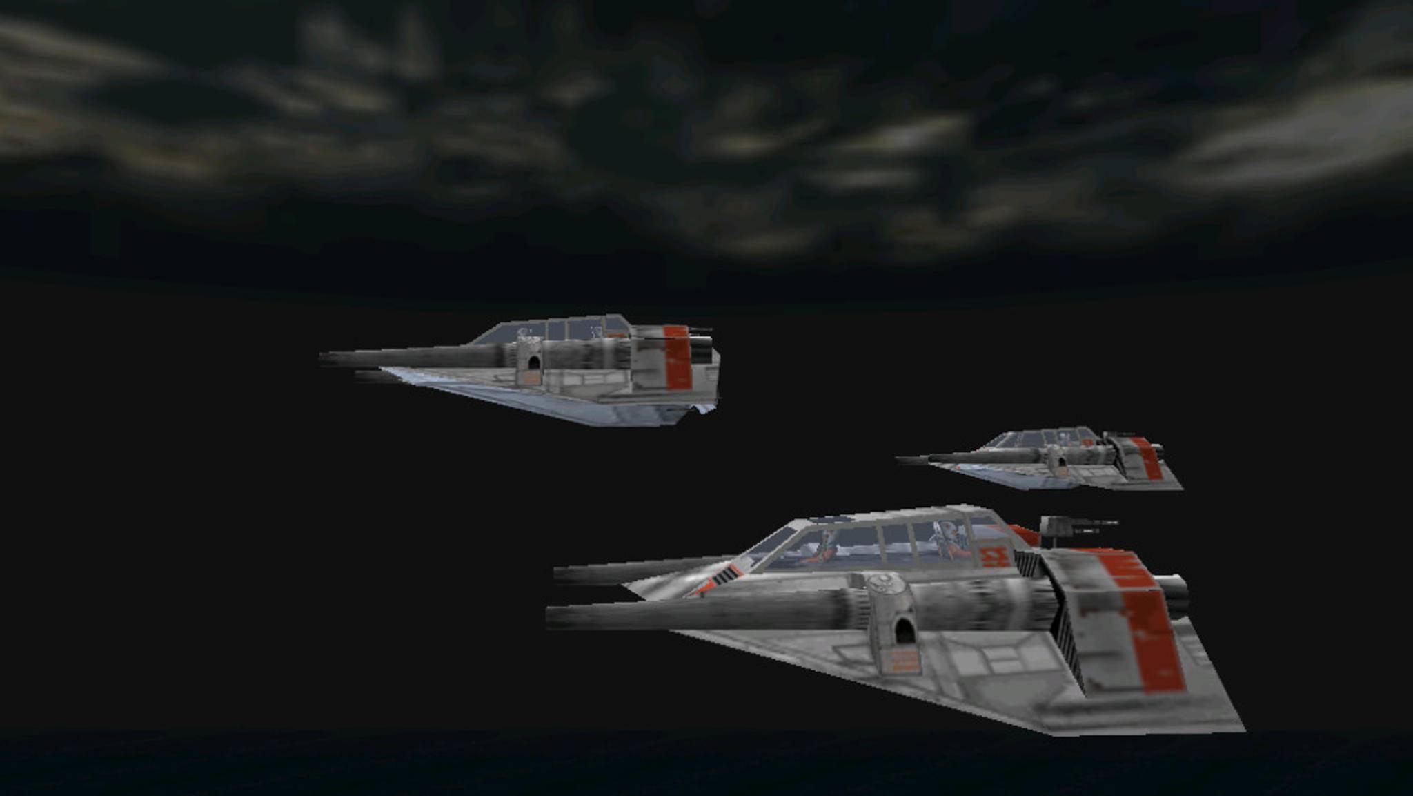 """Luke Skywalkers Rogue-Staffel verfügt über ein breites Arsenal an Flugzeugen – darunter der als """"Snowspeeder"""" bekannte Gleiter, ..."""