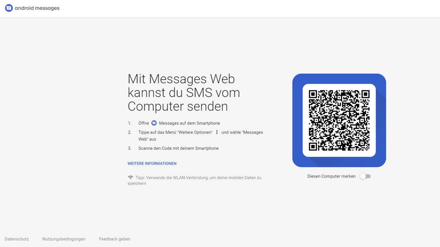 Android Messages Web