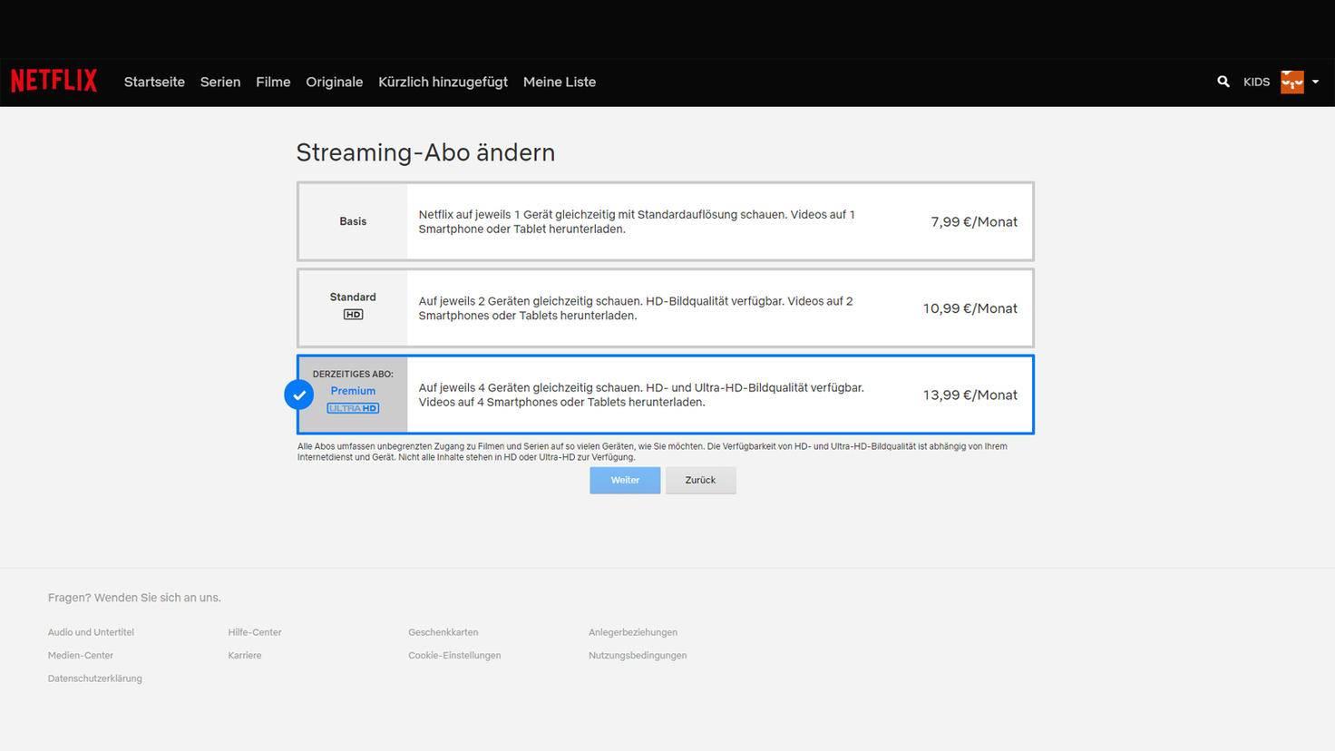 Auf wie vielen Geräten Du gleichzeitig Netflix-Inhalte gucken kannst, hängt von Deinem Abo ab.