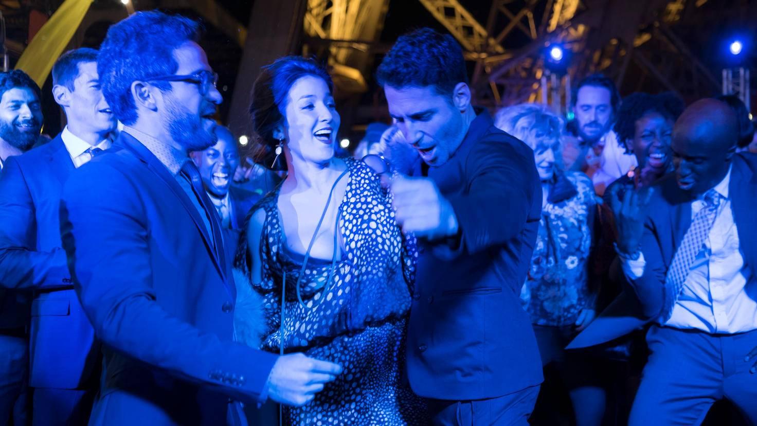 Anschließend feiert das Cluster: Hier Lito (rechts im Bild) mit Hernando und Dani.