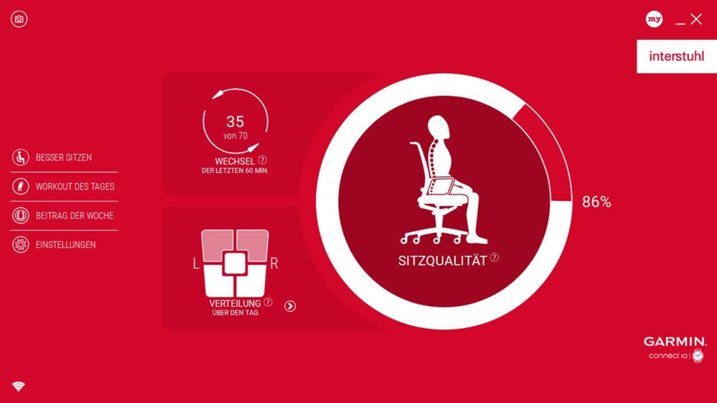 So sieht die Startseite der Interstuhl-App aus.