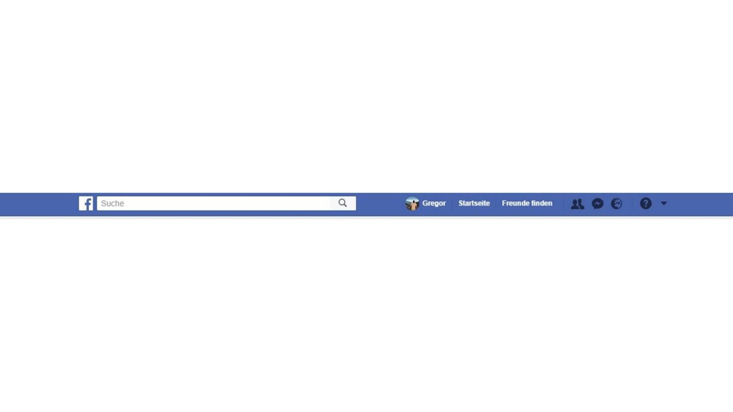 Suchleiste Facebook