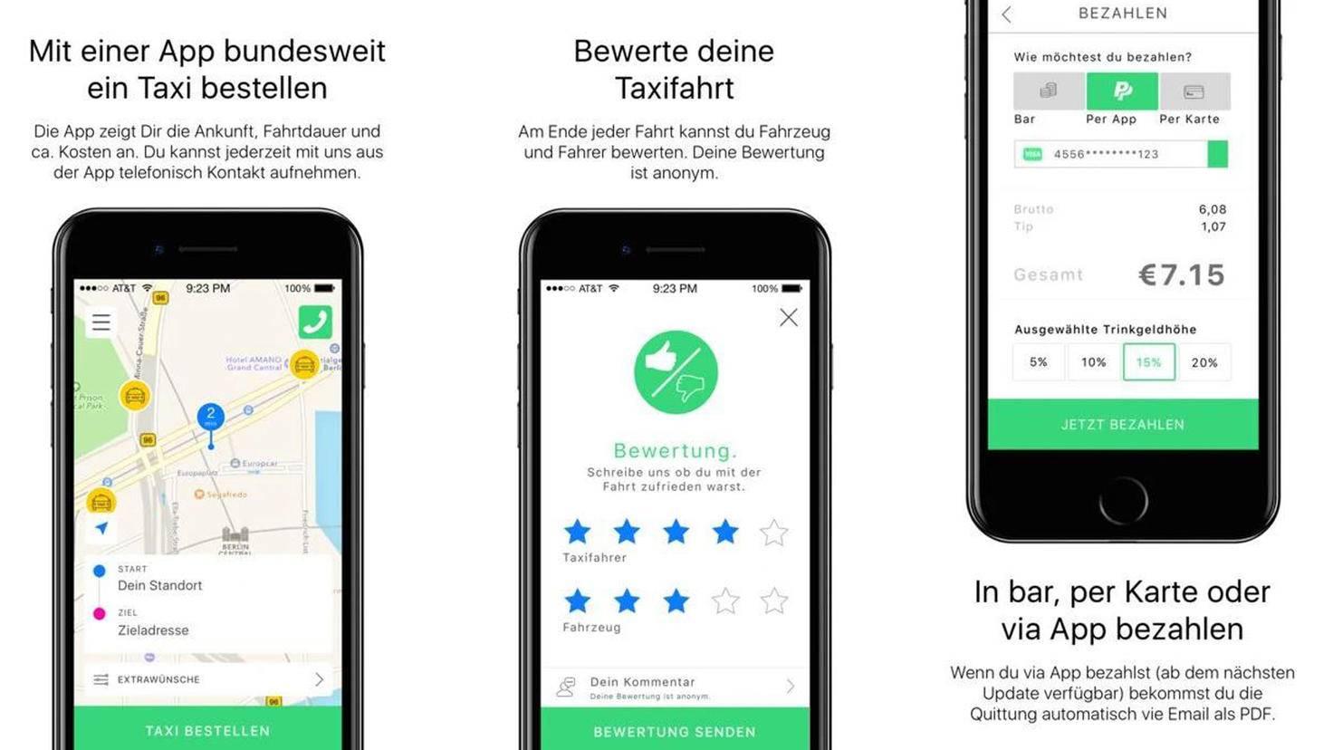 Taxi Deutschland-Google PlayStore-Taxi Deutschland Serviceges für Taxizentralen eG