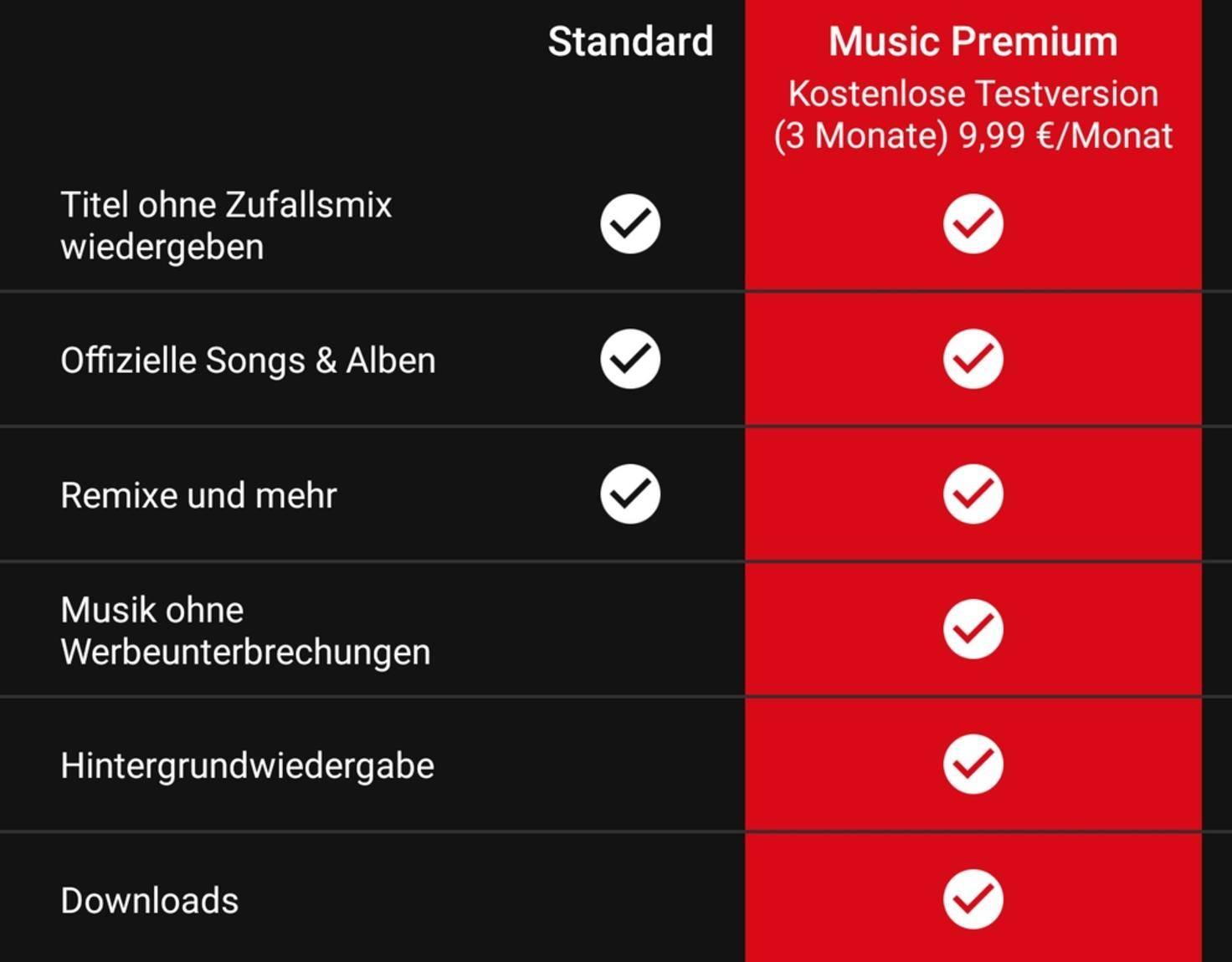 YouTube-Music-Kosten