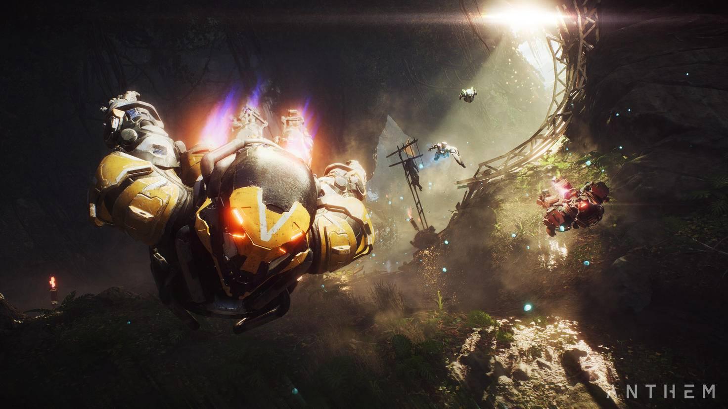 """Quest abholen, rein in den Kampfanzug und zusammen raus in die Wildnis – so soll das Gameplay von """"Anthem"""" ablaufen."""