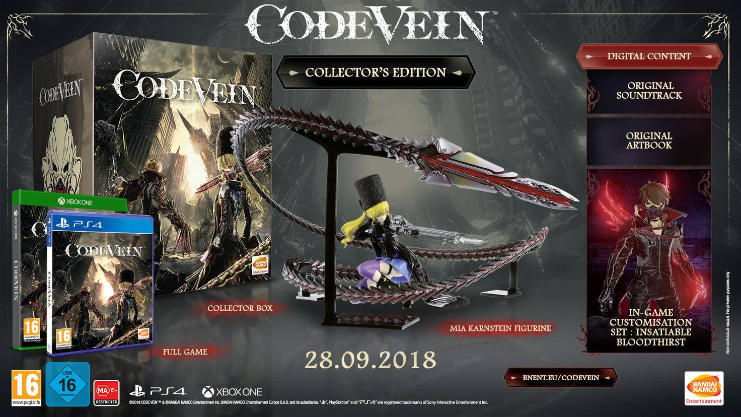 "Inhalte der ""Code Vein""-Collector's-Edition"