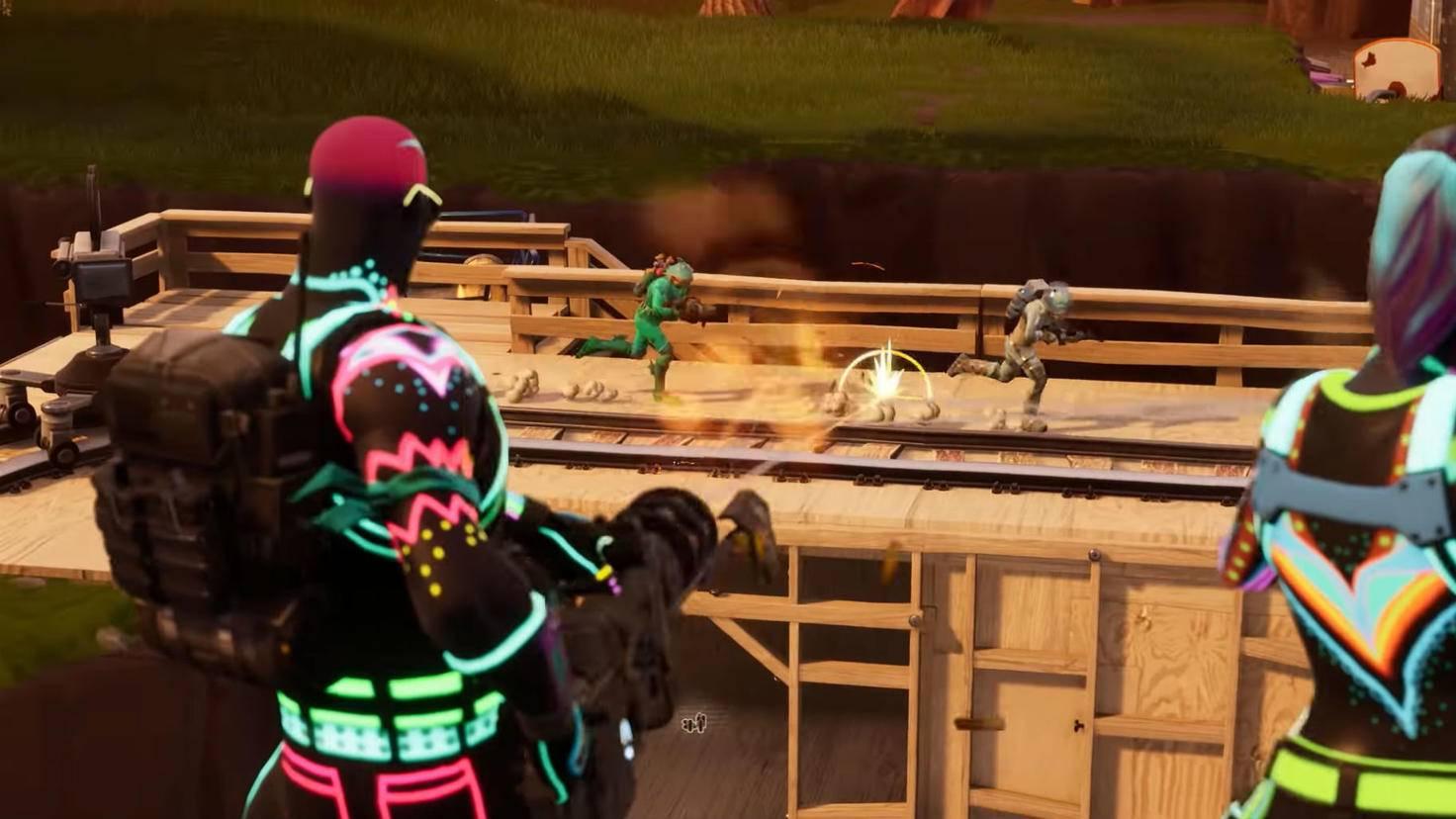 """In """"Fortnite: Battle Royale"""" ist ein Sieg zwar nur unter Einsatz von Waffen möglich, die Gewaltdarstellung bleibt aber comichaft und unblutig."""