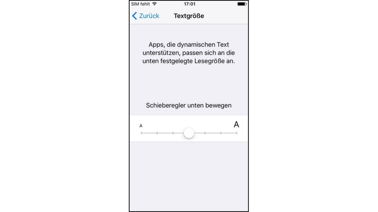 iPhone-Schriftgröße
