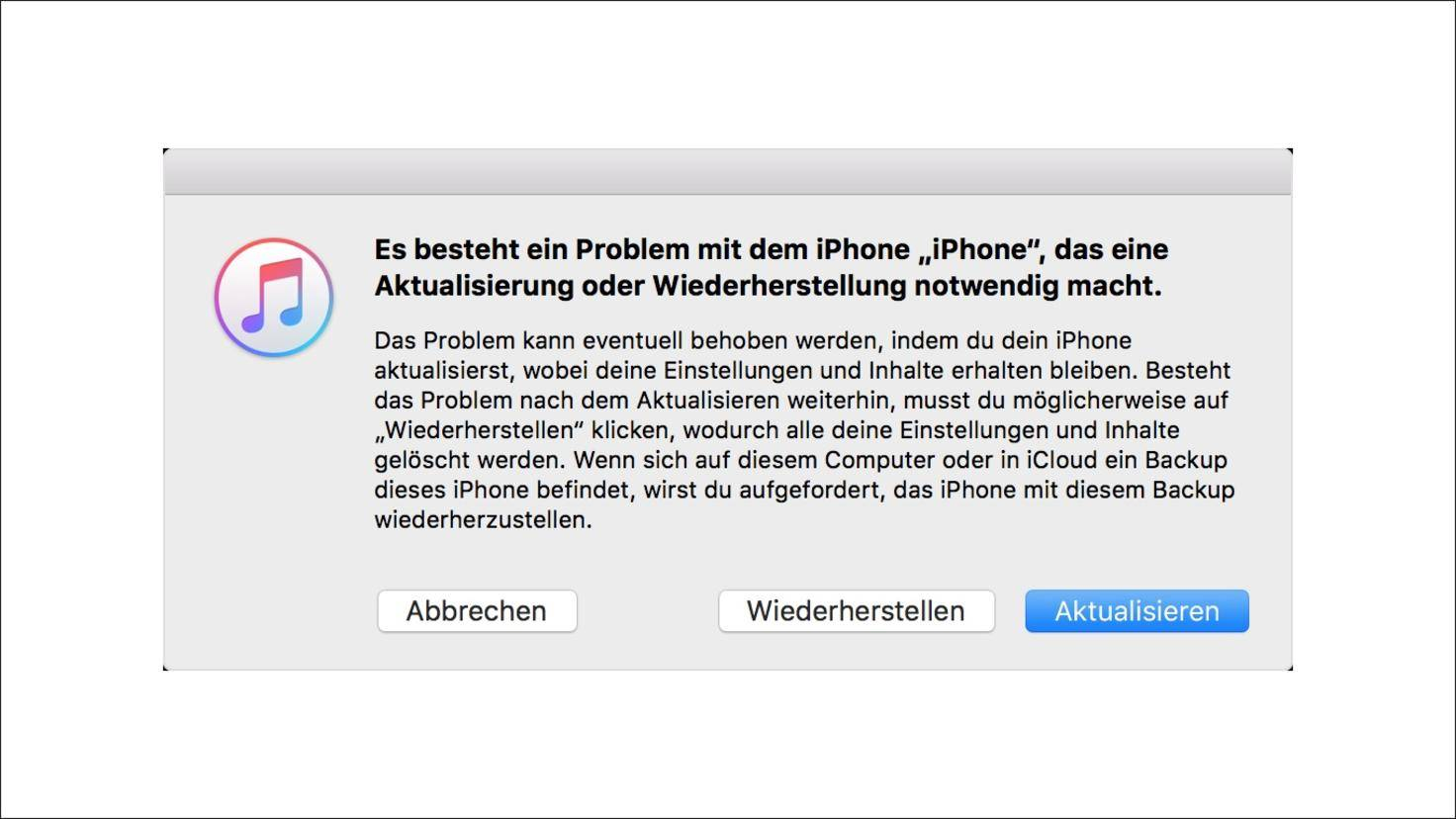 iTunes-Aktualisieren-Wiederherstellen-iPhone-Wartungsmodus