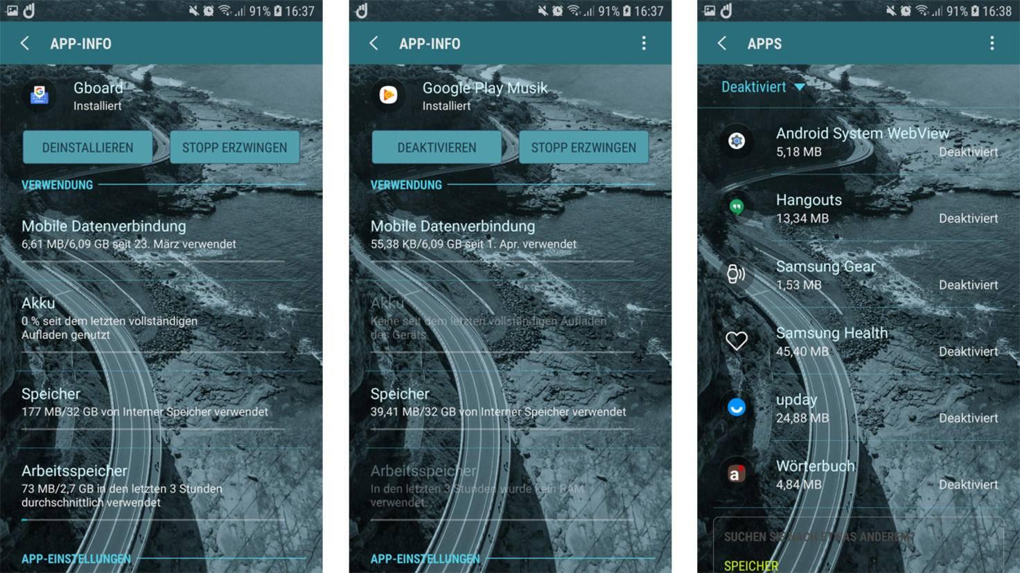 Android Apps deinstallieren deaktivieren