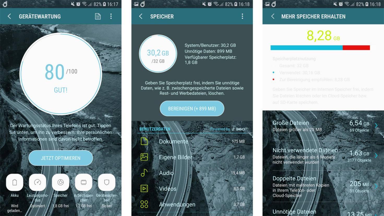 Android Speicher aufraeumen