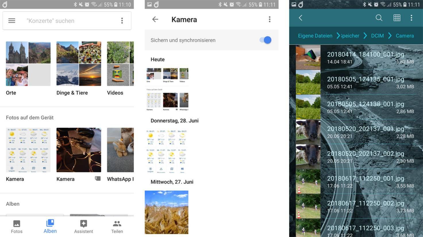 Android aufraeumen Fotos loeschen