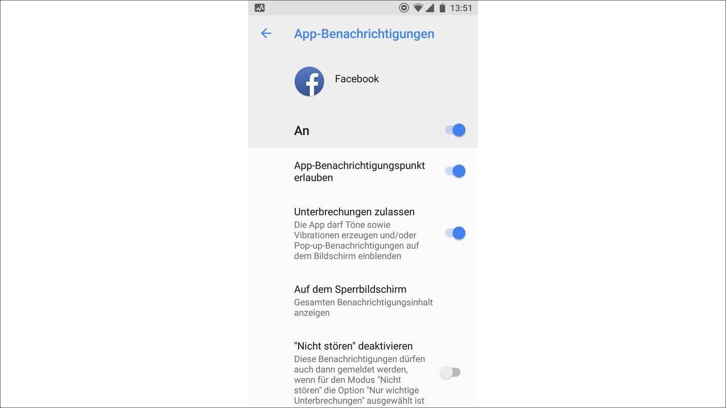 Facebook App Benachrichtigungen
