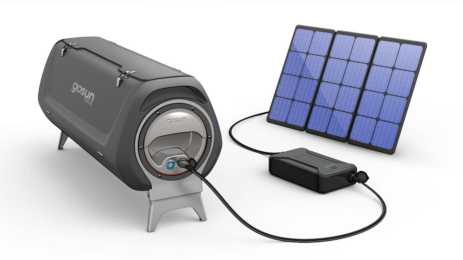 Nach Sonnenuntergang übernimmt ein elektrisches Heizelement, das über eine Ionen-Akku-Powerbank Energie bezieht.