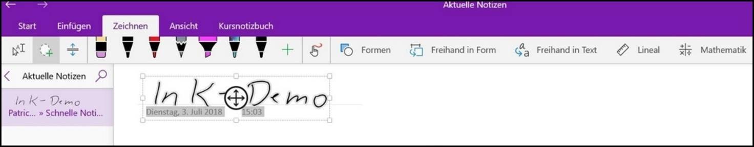 Mit dem Lasso-Tool musst Du Deinen Text zunächst markieren...