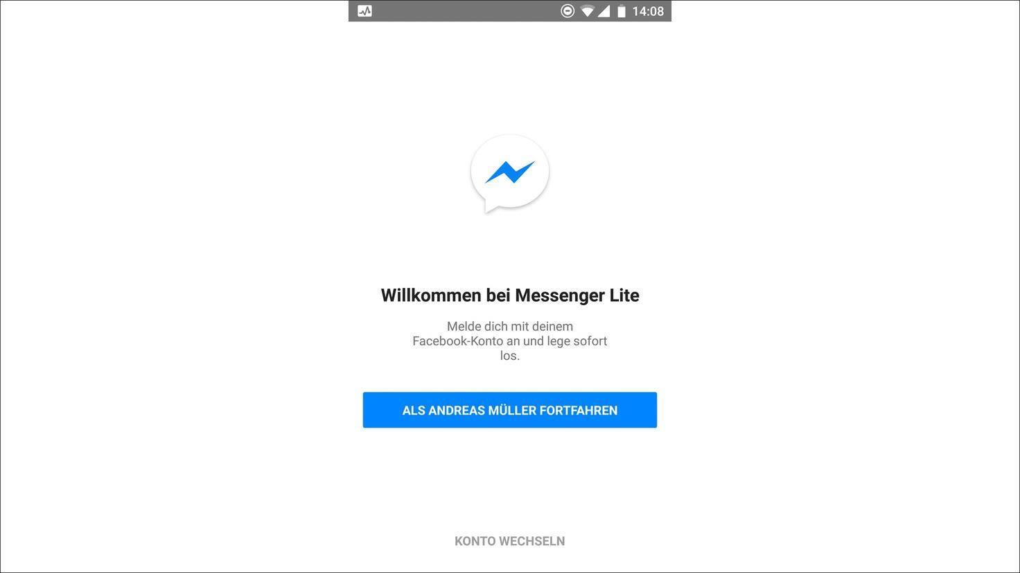 Der Facebook Messenger lädt schneller als die normale App.
