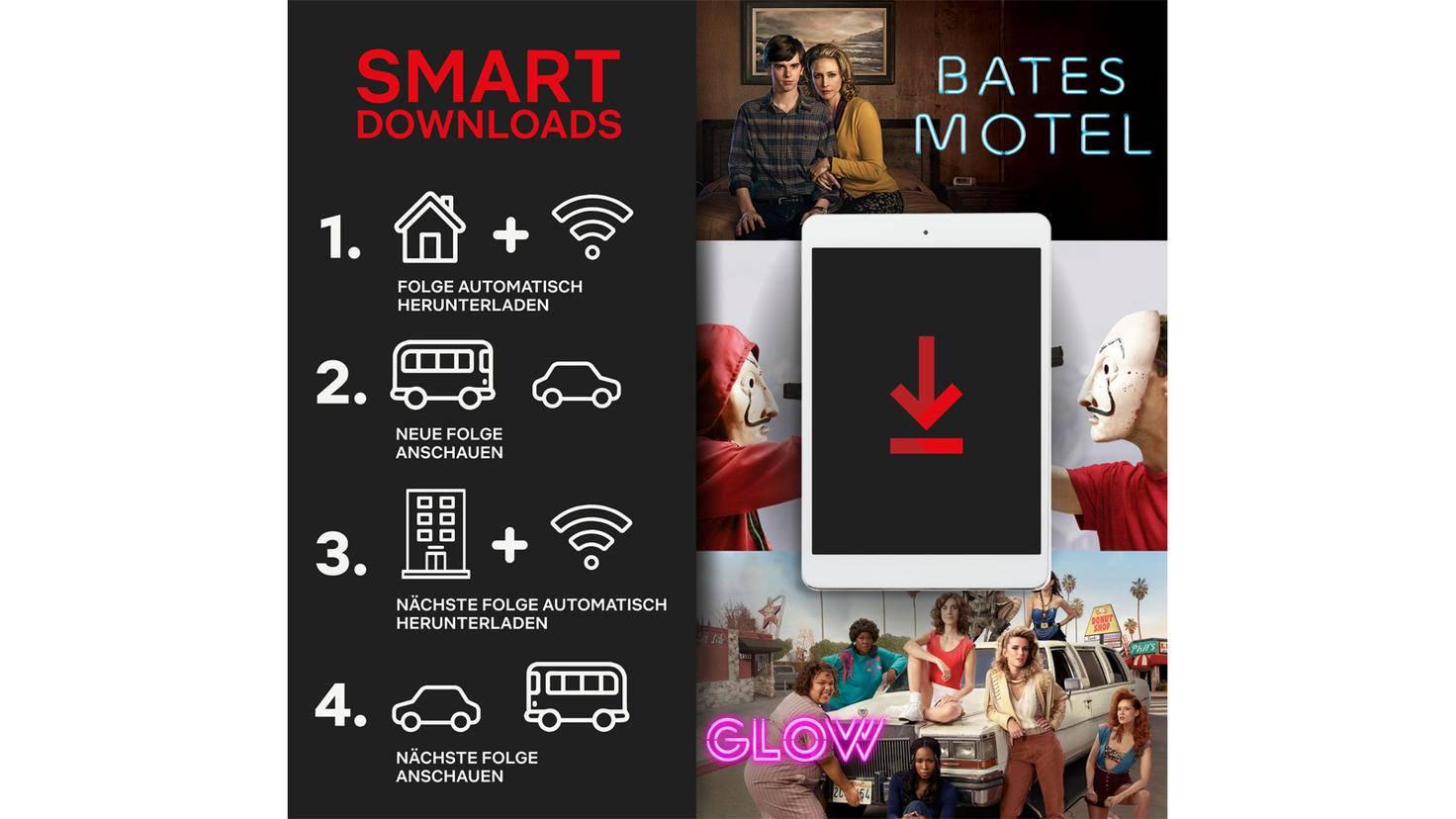 So funktioniert das Smart-Download-Feature von Netflix.