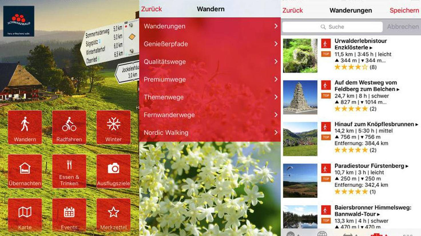 Schwarzwald Wander-App