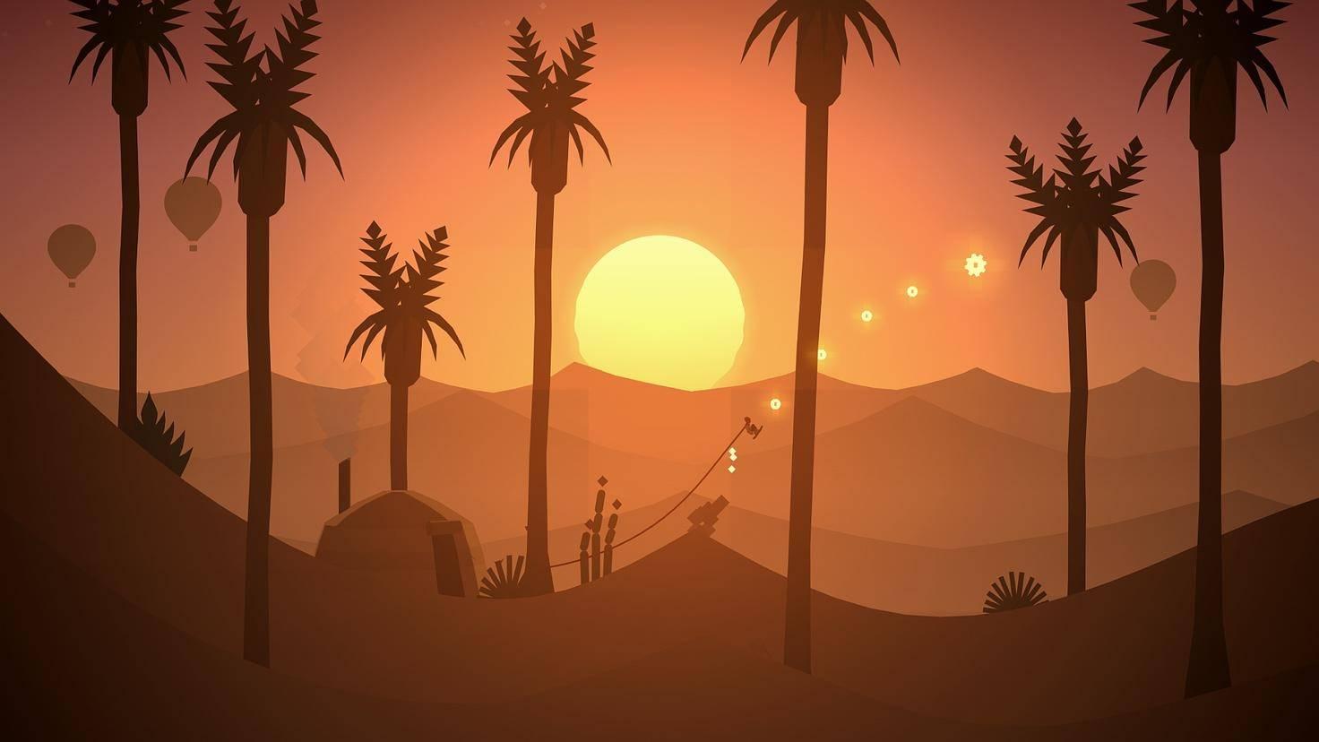 Alto boardet in den Sonnenuntergang.