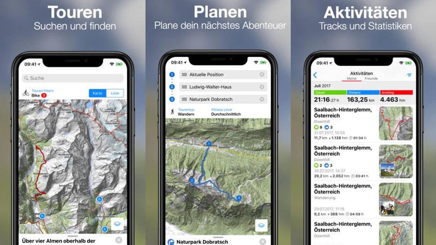 bergfex Wander-App