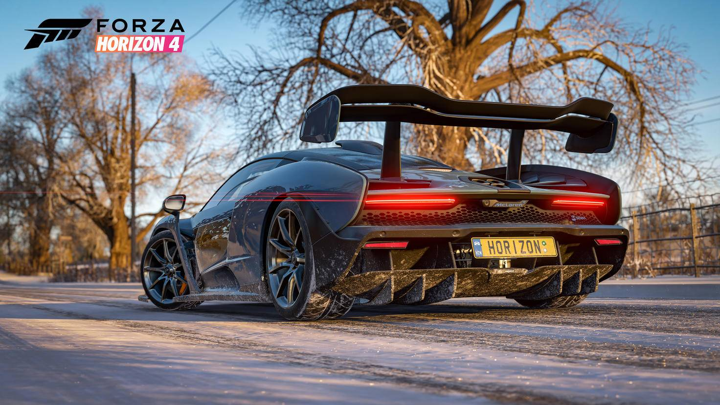 """Aushängeschild: Der McLaren Senna ist der Coverstar von """"Forza Horizon 4""""."""