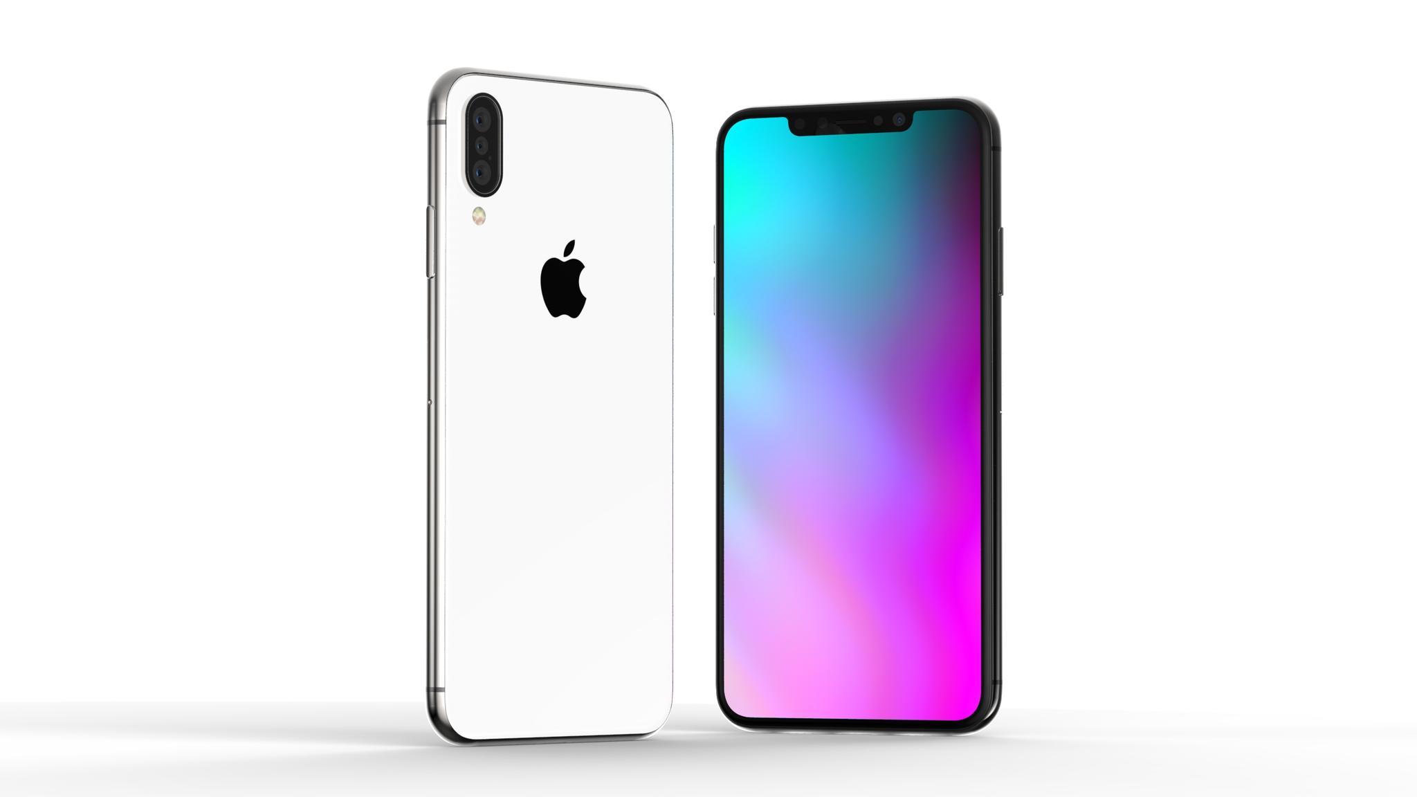 Konzept des iPhone X (2018) mit Triple-Kamera