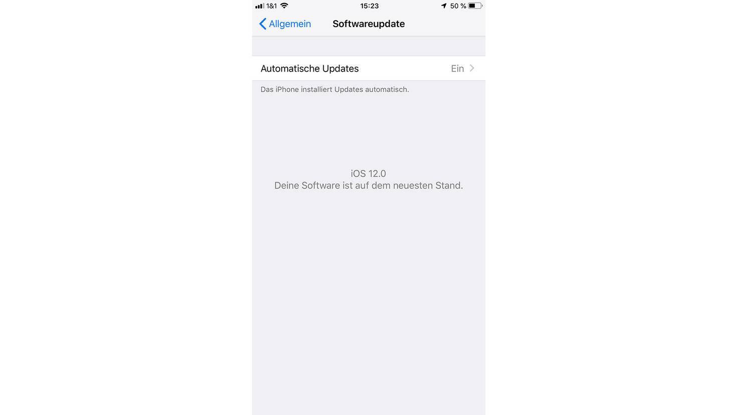 """Im Bereich Softwareupdate findest Du die neue Option """"Automatische Updates""""."""