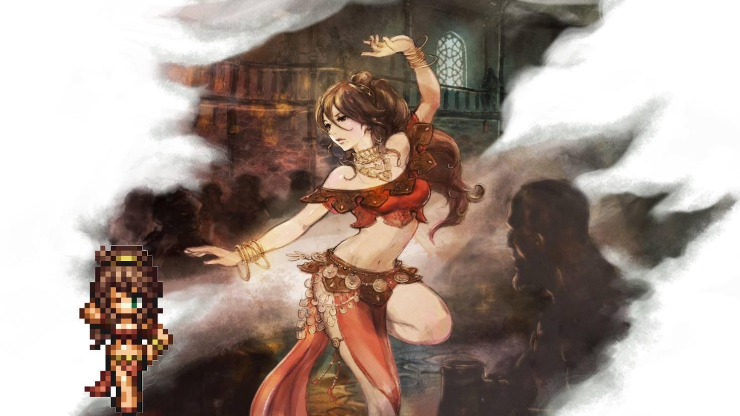 Tänzerin Primrose weiß den Weg zu viel XP!