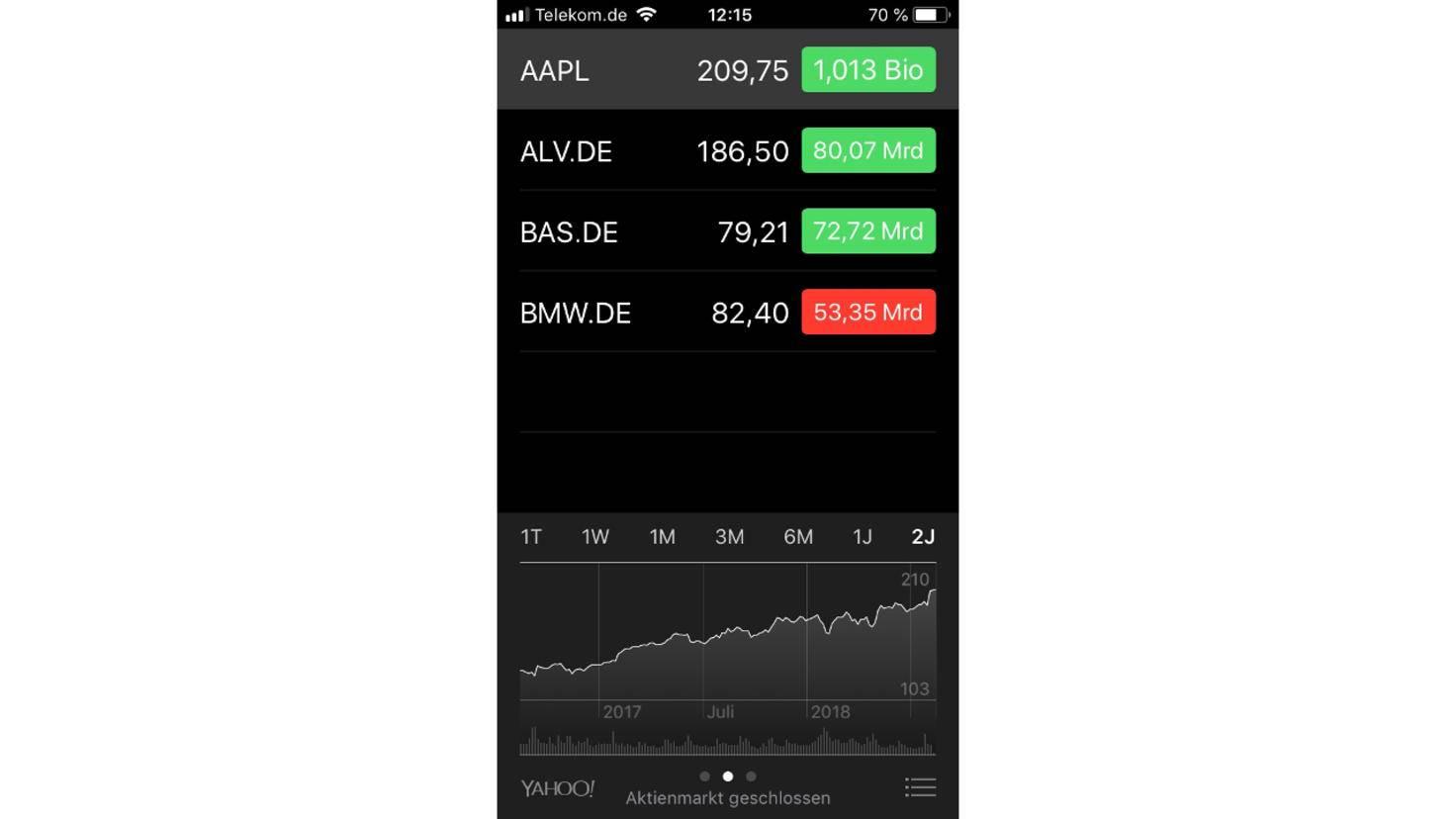 Aktien-App iPhone 1