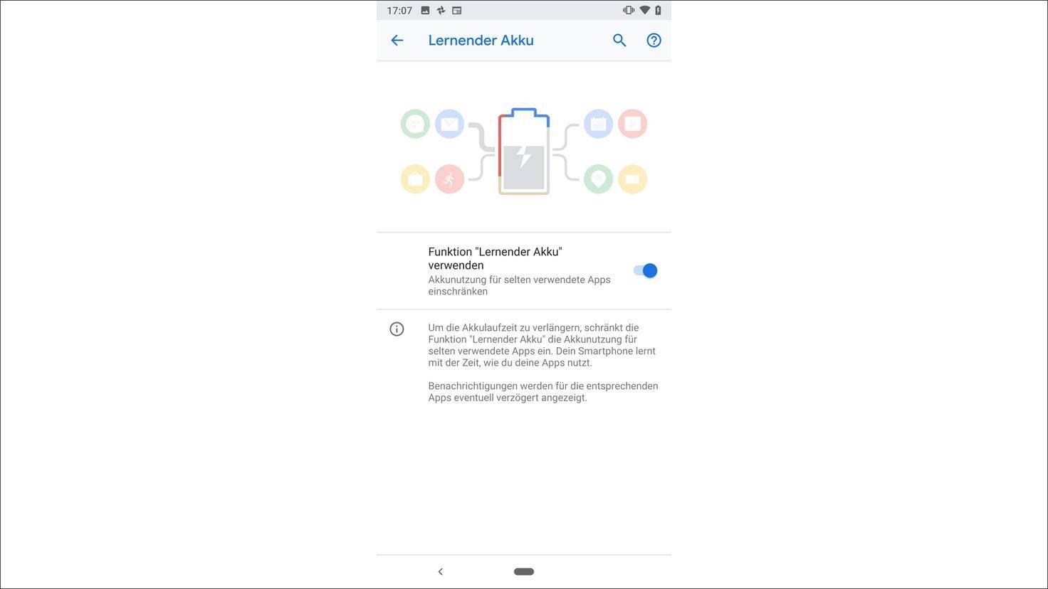 Android-9.0-P-Adaptiver-Akku