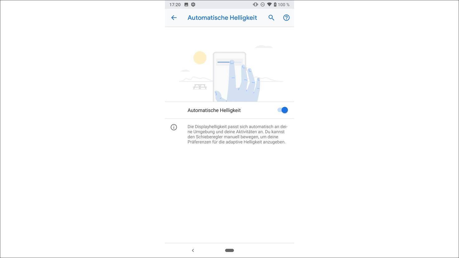 Android-9.0-P-Automatische-Helligkeit