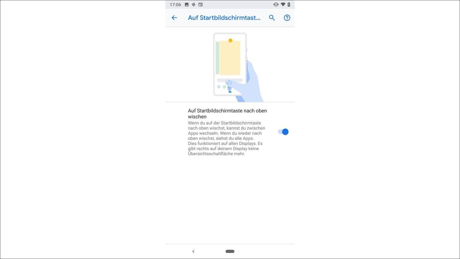 Android-9.0-P-Gestensteuerung