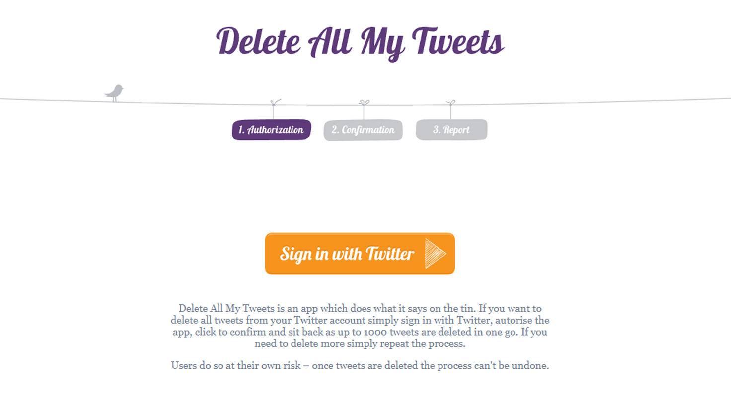 Ja, bitte einmal alle Tweets löschen!