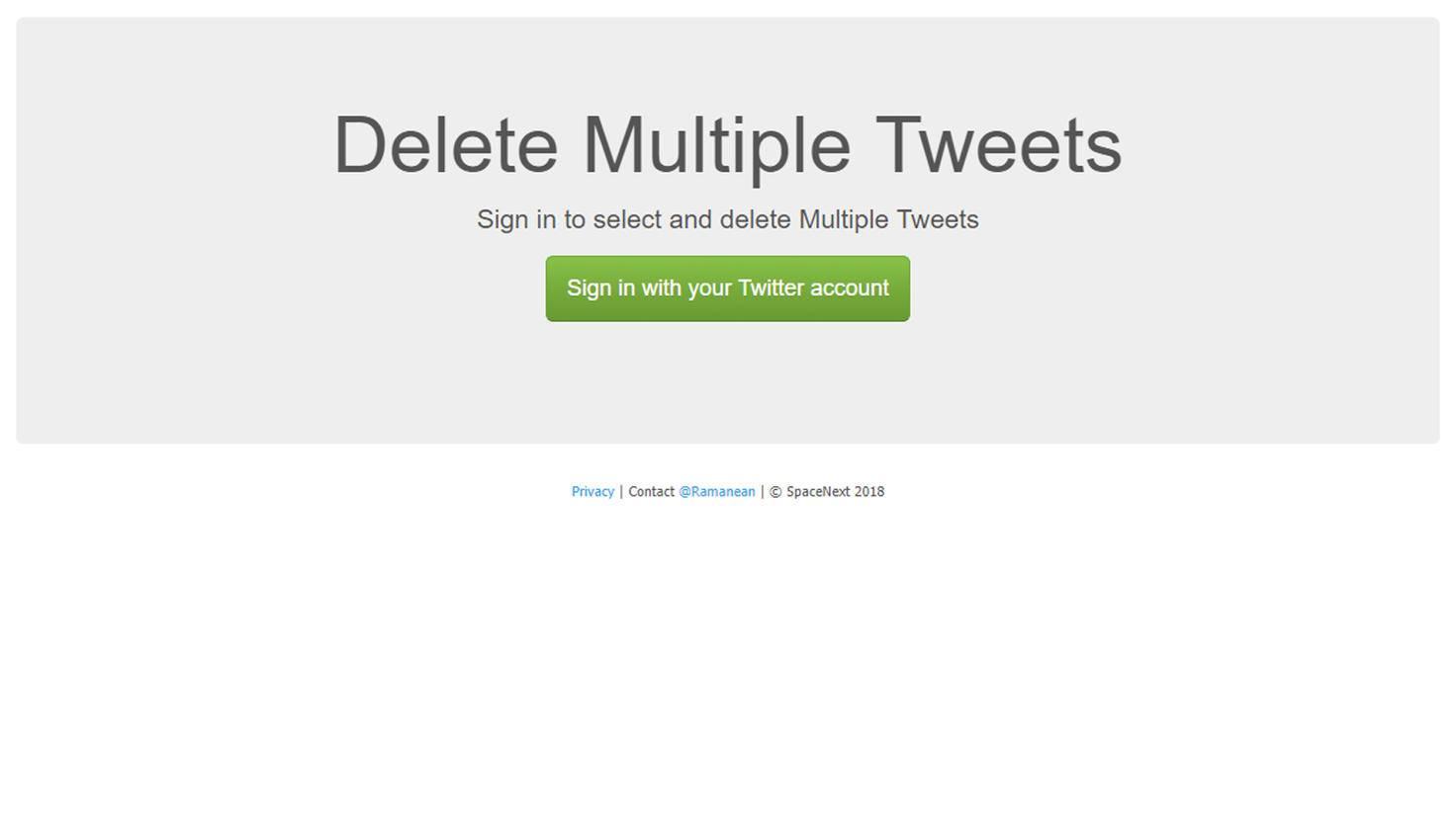 Sollen nur ausgewählte Tweets verschwinden? Auch das geht.