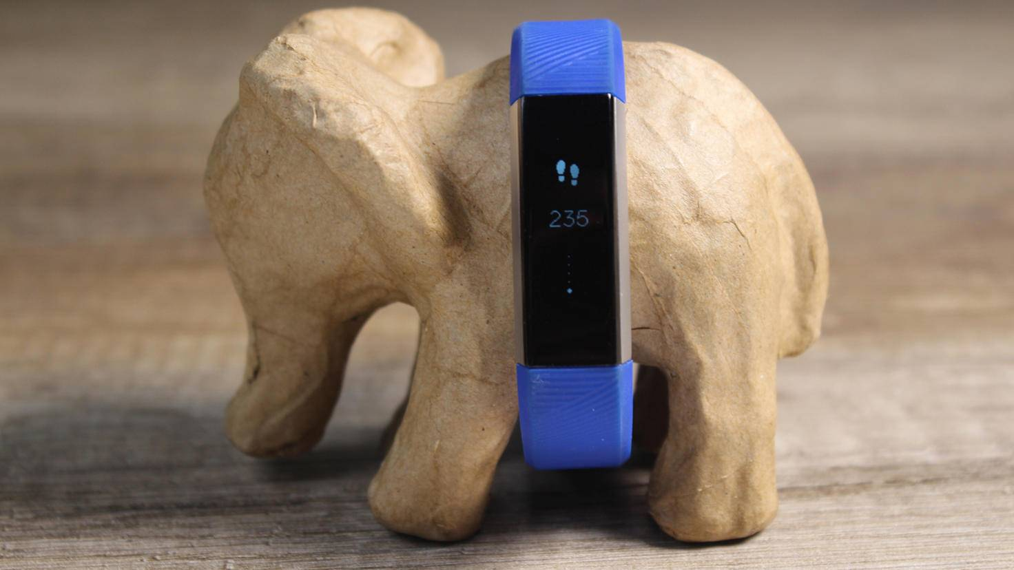 Das Display des Fitbit Ace zeigt Schritte und Co. an.